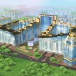 Ввели в эксплуатацию у метро «Звездная» жилой комплекс «Антей» в количестве трех корпусов.